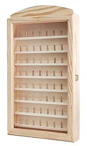 Vitrina colecciones dedales grande. Para 64 dedales. Medidas (ancho/fondo/alto): 30 * 6.5 * 54 cms.