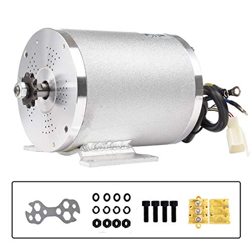 36V 1000W Elektromotor 27.7A Bürstenloser Gleichstrommotor 3100 U/min Hochgeschwindigkeits-Elektrorollermotor mit Montagehalterung für Mini Bike Quad und Go-Kart ATV Dirt Motorrad