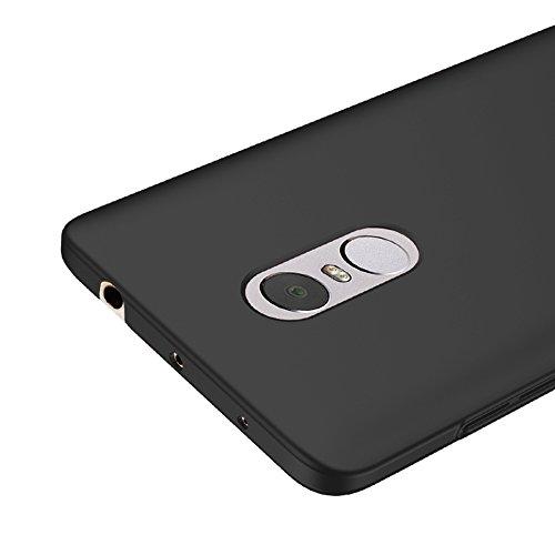 Vooway Nero Ultra Sottile Custodia Cover Case + Pellicola Protettiva per Xiaomi Redmi Note 4 MS70201