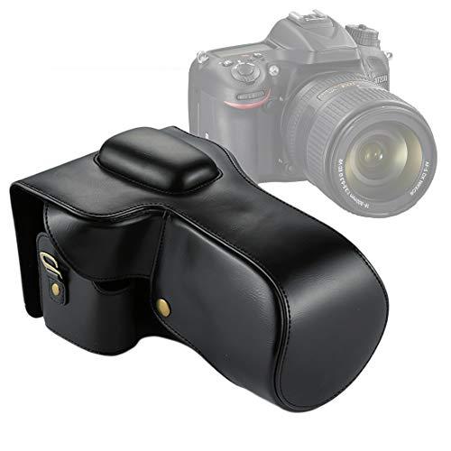 Completo Cuerpo de la cámara Bolso de Cuero del Caso for Nikon D7200 / D7100 / D7000 (18-200/18-140mm Lens) Movoo (Color : Black)