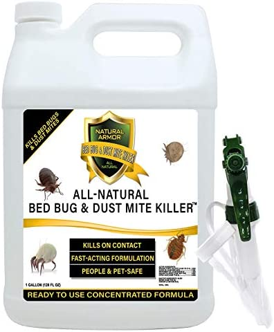 Bed Bug Dust Mite Killer Natural Spray Treatment for Mattresses Covers Carpets Furniture Fast product image