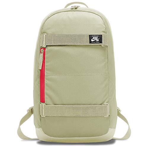 Nike Nk SB Crths Bkpk Sports Backpack - Olive Aura/Olive Aura/(Bright Crimson), MISC