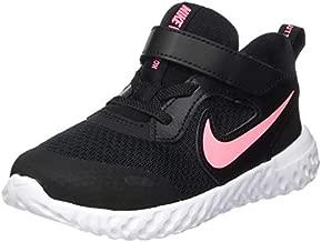 Nike Baby Revolution 5 Velcro Running Shoe, Black/Sunset Pulse, 9C Regular US Toddler