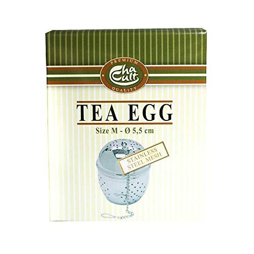 Tee-Ei mit Kette zum Einhängen, ca. 5,5 cm Durchmesser