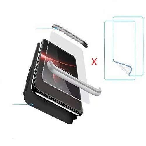 hyujia Compatibile Oppo Realme X2 PRO Cover(2019) Custodia Ultra Sottile[2 * Vetro Temperato] PC Cassa 360 Gradi Anti-Caduta Bumper Protective Case Cover Custodia per Oppo Realme X2 PRO Oro