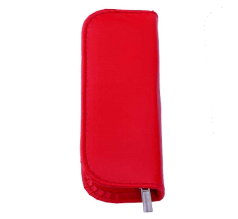 アンプ効率環境8Pcネイルキットブラックヘッドクリーナーリムーバーにきびニードルピンプルツールブラックヘッドエクストラクターピンセットアートネイルコメドンとはさみ,Red