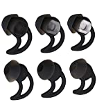 Xivip SML Soft Silicone Earbud Eartips Compatible Bose Quietcontrol 30 QC30 SoundSport QC20 SIE2 MIE2 Earbuds (Black)