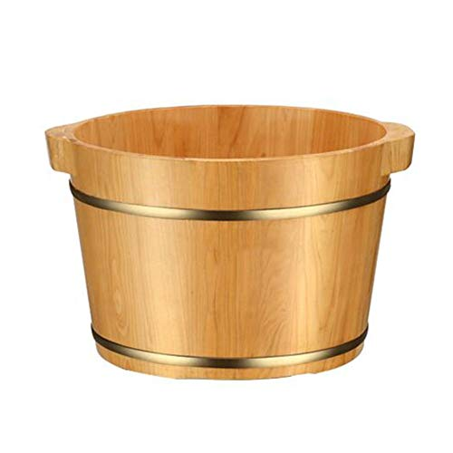 Buy QY Wooden Foot Basin Bathtub Soaking Bucket Household Beauty Spa Salon Sauna Foot Massager (Colo...