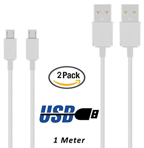 TheSmartGuard 2 x Datenkabel/Ladekabel/S 4 / S IV GT-I9500, GT-I9505 / S4 Mini - Micro USB/Premium Kabel kompatibel für Samsung Galaxy S4 in weiß - 1 Meter