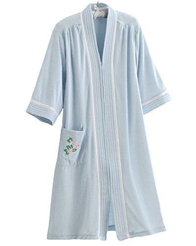 National Soft Knit Terry Lounger, Blue, 3X - Misses, Womens