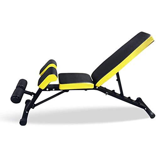 FQCD Deluxe Plegable Utilidad de Banco de Ejercicio Ajustable Siéntese AB Incline Bench Gym Equipment
