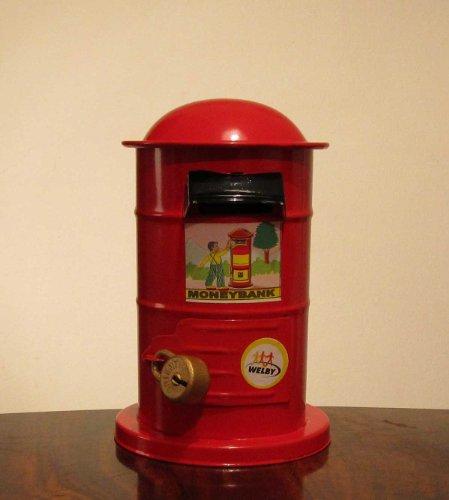 Nostalgie Blech Spardose Roter Briefkasten