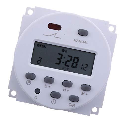 joyMerit DC 12V 24V Digitale LCD Timer Programmierbar Zeitschaltuhr Zeitschalter AC Relaischalter er - dc 12v