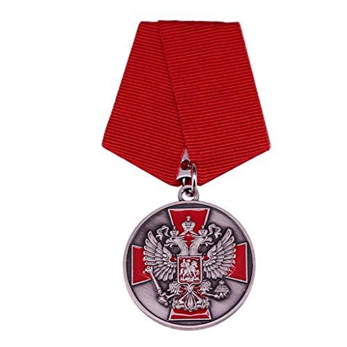 JXS Insignia Militar soviética, réplica de Medalla Militar de águila de Doble Cabeza soviética, Insignia de Metal, colección de Fans Militares 2pcs