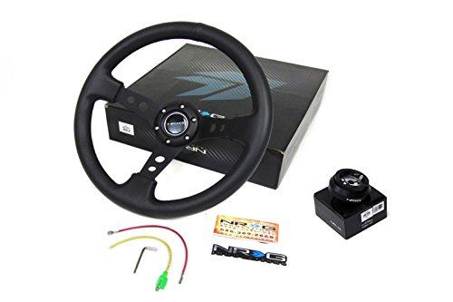 03-07 Infiniti G35 NRG 350MM Steering Wheel + Hub Adapter Black