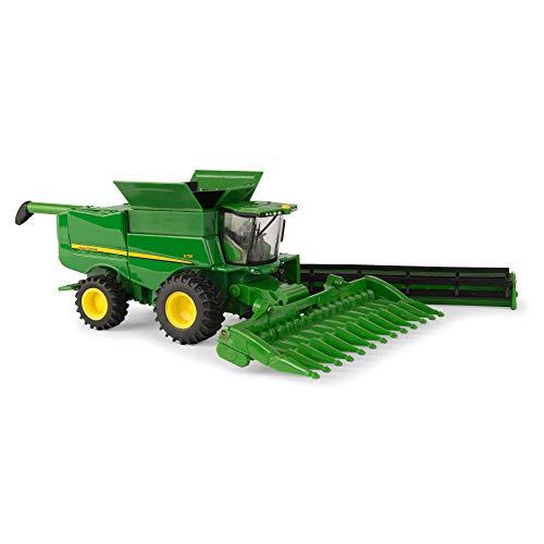 ERTL John Deere 1:64 Scale S790 Combine with Corn Head and Grain Head - Die-Cast Metal Replica