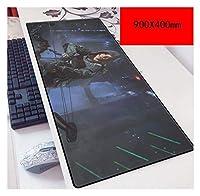 ゲーミングマウスパッド, デューティスピードゲーミングマウスパッドのマウスマットコール XXLマウスパッド  900 X 400ミリメートル大サイズ 3ミリメートル厚のベース 完璧な精度とスピード、Q (Color : P)