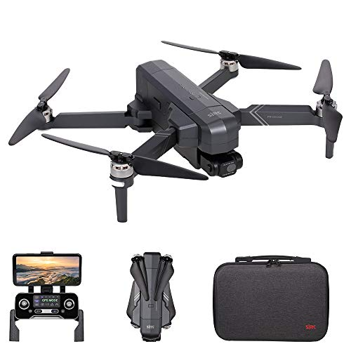 SJRC F11 4K PRO RC Drone with Camera 4K 2-axis Gimbal Brushless Motor 5G WiFi FPV GPS Quadcopter Point of Interest Waypoint Flight 1500m Control Distance 26mins Flight Time with Storage Bag