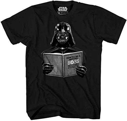 Star Wars Darth Vader Dark Side Empire Funny Humor Pun Adult Men's Graphic Tee T-Shirt (Large) Black