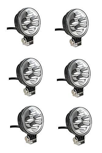 6x Arbeitslicht Weiß 12W LED Strahler Rund IP67 86mm Arbeitsscheinwerfer Offroad Scheinwerfer Auto LKW PKW ATV UTV SUV Offroad Traktor Träger Bager Grabenbager Gabelstapler Anhänger Wohnwagen