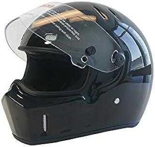 CRG Sports ATV Motocross Motorcycle Scooter Full-Face Fiberglass Helmet DOT Certified ATV-1 Glossy Black Size Medium