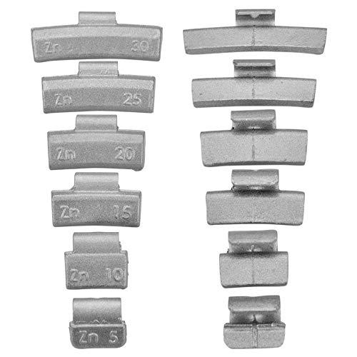 5-30g Pesos Surtido para Llantas de Aluminio 150 Piezas ( Cada Uno 25 Von 5g, 10g, 15 G, 20g, 25G y 30G)