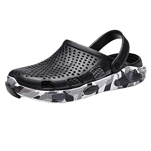 UXITX Hausschuhe Neue Qualitätsmänner beschuht Sommerloch-Schuhe im Freien beiläufige Innenhefterzufuhren große Strand-Sandelholze