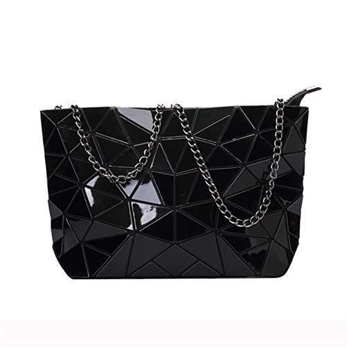 ZYMQ Bolsas de Crossbody para Mujer Diseñador Bolso de Hombro Bolso de Hombro PU Bolsos de Cuero Ladies Color Sólido Piedra pequeña Bolsa,Negro