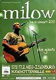Milow - Never Gonna Stop, Neu-Isenburg und Frankfurt 2010 » Konzertplakat/Premium Poster | Live Konzert Veranstaltung | DIN A1 «