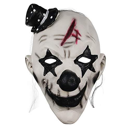 molezu máscara de látex Máscara de rave Mardi Gras máscara de mascarada para fiesta de disfraces de máscara de payaso Halloween