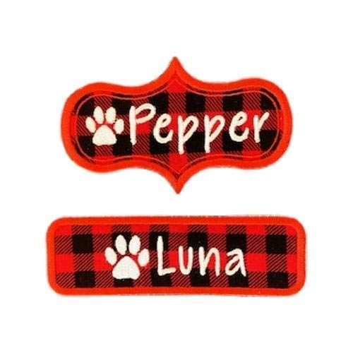 Custom Name Patch With Paw Print Or On PLA -Iron Popularity Max 68% OFF Sew -BUFFALO