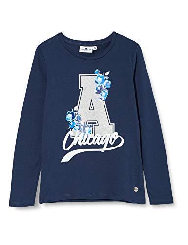 TOM TAILOR Mädchen Langarmshirt T-Shirt, Dress Blues|Blue, 128/134