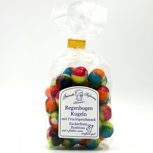 Zuckerfreie Regenbogen-Kugeln mit Fruchtgeschmack, 120g