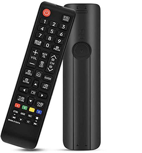 MYHGRC Nuevo reemplazo Mando a Distancia Pare Samsung BN59-01247A Ajuste para Samsung Smart TV- No Requiere configuración Mando a Distancia para Samsung TV
