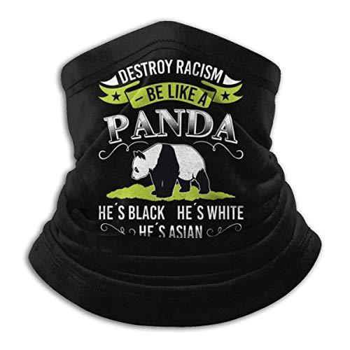 Lawenp Di no al racismo Polaina de cuello Bufanda de tubo Sombreros pasamontañas Bufanda de motocicleta Bufanda facial Bufanda negra