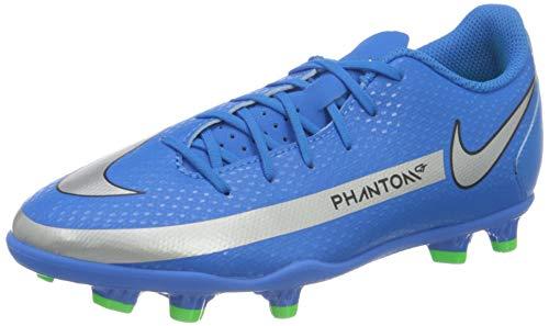 Nike JR Phantom GT Club FG/MG, Zapatillas de ftbol, Photo Blue Mtlc Silver Rage Green Black, 38 EU