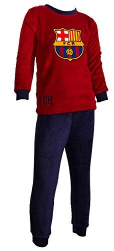 FC Barcelona - Conjunto pijama oficial de camiseta y pantalones ( talla para niño )., multicolor, 5 años