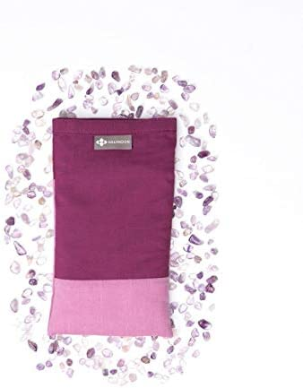 Halfmoon Yoga Products Crystal Collection Cotton Eye Pillow Amethyst product image