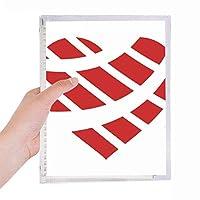 赤いバレンタインデーハート形の 硬質プラスチックルーズリーフノートノート