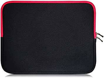 Sweet Tech Black//Red Neoprene Case Cover Sleeve suitable for  Fire 7 inch Tablet