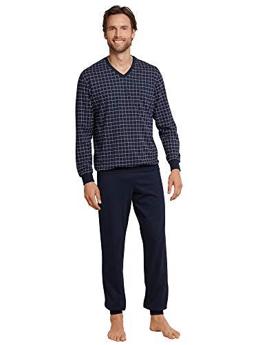 Schiesser Herren Anzug Lang Zweiteiliger Schlafanzug, Blau (Dunkelblau 804) S X-Large (DE: 027)