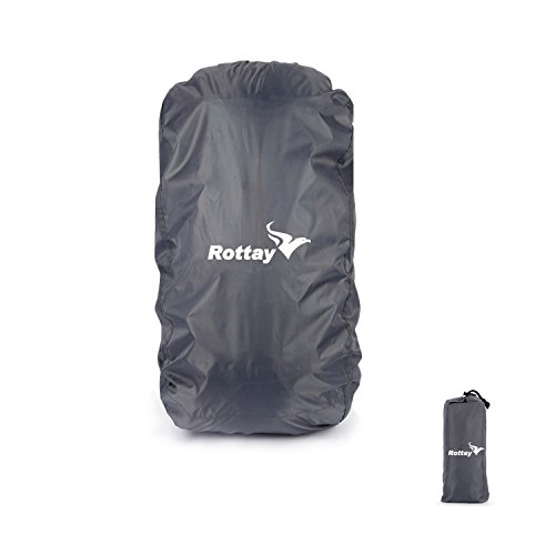 Backpack Rain Covers,Rottay Waterproof Backpack Rain Cover for Hiking/Camping/Climbing/ Cycling (L(65L-90L))
