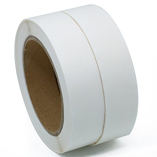 "Hybsk(TM) Clear Retail Package Seals 1"" Round Circle Wafer Stickers/Labels 1,000 Per Roll (2 roll)"