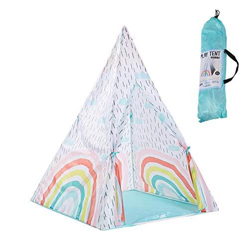 Jannyshop Pequeña Tienda de Campaña Tippe para Niños Sueño Arcoiris Casa de Juegos para Bebés 39.3739.3755.11