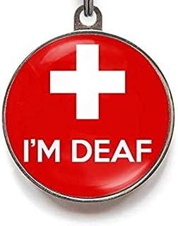 Wag-A-Tude Tags I Am Deaf Custom Medical Pet Tag