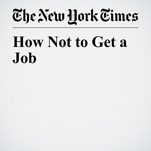 How Not to Get a Job copertina