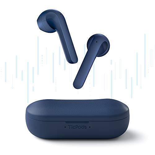Fone Ticpods 2 Pro TWS Earbuds, Bluetooth 5.0, Com Duplo Mic, IPX4, 20H bateria (Azul Marinho)