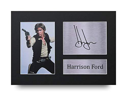 HWC Trading Harrison Ford A4 Ungerahmt Signiert Gedruckt Autogramme Bild Druck-Fotoanzeige Geschenk Für Star Wars Filmfans