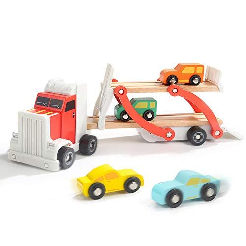 AOTE-D Big Truck Model Set Bois Démontage Double-Couche Assemblé Construction Véhicule Ensemble De 5 Enfants Garçons et Filles Cadeaux Jouets Jouet Camion Toys Vehicules