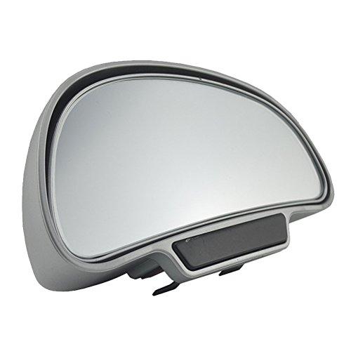 VOSAREA 360 Grados Ajustables Espejos de Formato de la Parte Trasera Amplia Espejo de Punto Ciego para aparcar Espejos retrovisores auxiliares (Lado Derecho de Plata)